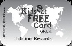 Kids Eat Free Card Lifetime Rewards